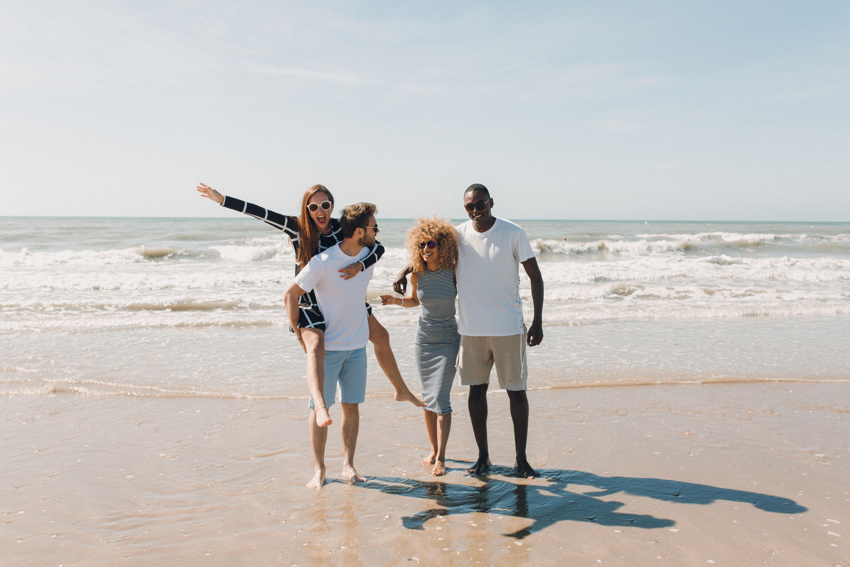 We deauville il bande a la plage